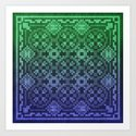 Pixel Patterns Blue Green by likelikes