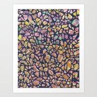 Graphic Terrazzo Art Print