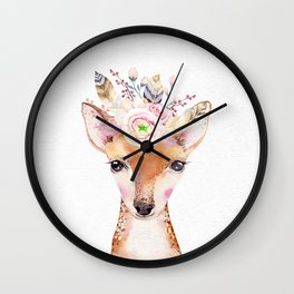 Forest Fawn by Nature Magick Wall Clock
