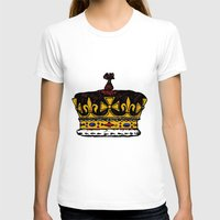crown T-shirts featuring Crown by Michael Keene