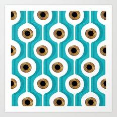Eye Pod Turquoise Art Print