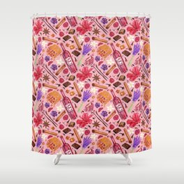 Love Potion Ingredients Shower Curtain