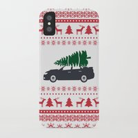 subaru iPhone & iPod Cases featuring Happy Holidays - Subaru Christmas Sweater by E. Phillips - Creative Designer
