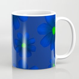 Blue Flowers Beautiful Pattern Coffee Mug