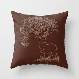 Fractal Point Buck Throw Pillow