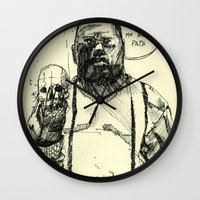 notorious big Wall Clocks featuring Biggie Notorious by Maddison Bond