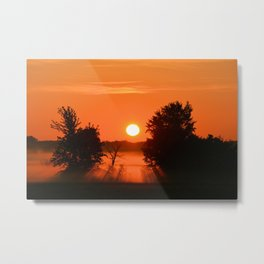 Burning Orange Metal Print