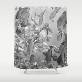 Come dive with me Shower Curtain