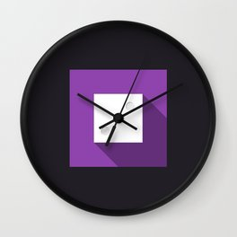 "Dice ""three"" with long shadow in new modern flat design Wall Clock"