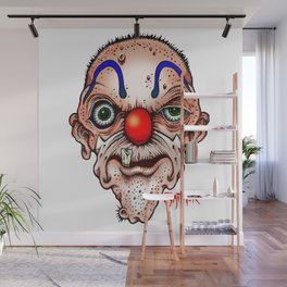 Clown with one tooth Wall Mural