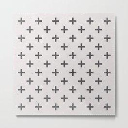 Stone Cross Pattern Metal Print
