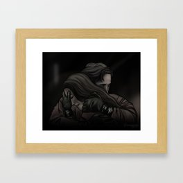 she can't get in // kabby Framed Art Print