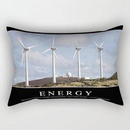 Energy: Inspirational Quote and Motivational Poster Rectangular Pillow
