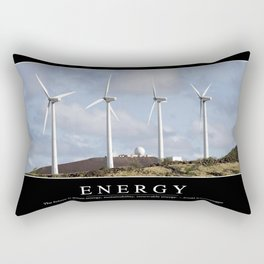 Energy: Inspirational Quote and Motivational Poster Rectangular Pillow
