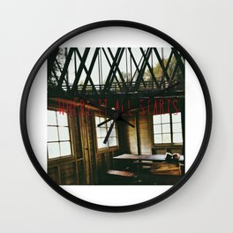 I Think I Found A Place (Where It All Starts) Wall Clock