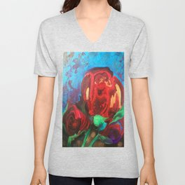 The Tulips Came Early Unisex V-Neck