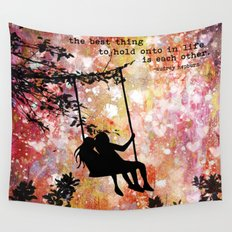 Each Other Wall Tapestry