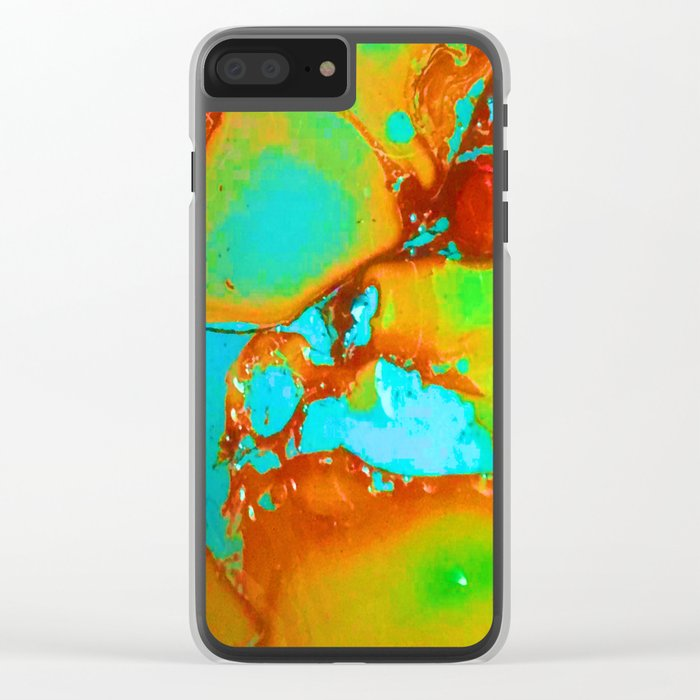 Orange to Blue Medley Clear iPhone Case
