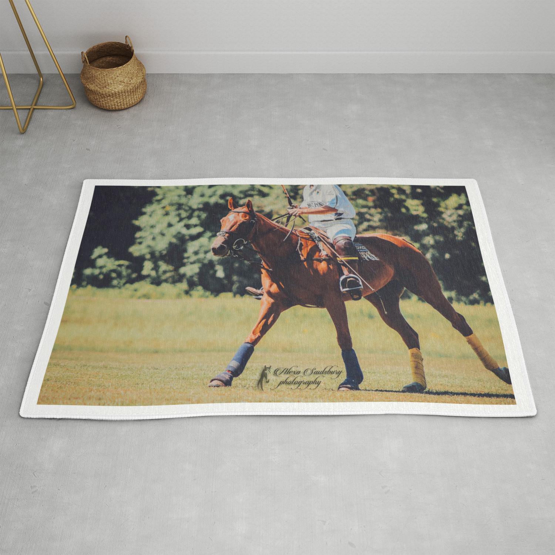 Chestnut Polo Pony Rug By
