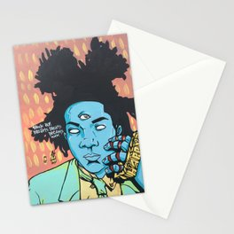 STUCK ON DREAMS (Basquiat) Stationery Cards
