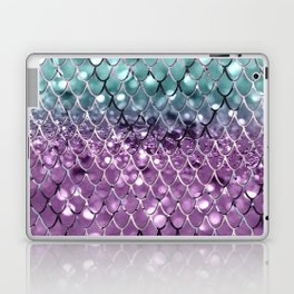 Mermaid Scales on Aqua Purple MERMAID Girls Glitter #2 #shiny #decor #art #society6 Laptop & iPad Skin