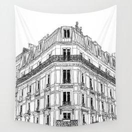 Parisian Facade Wall Tapestry