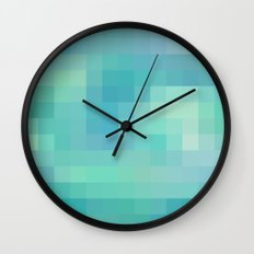 Re-Created Colored Squares No. 17 by Robert S. Lee Wall Clock