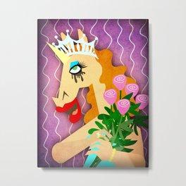Miss Unicornverse Metal Print