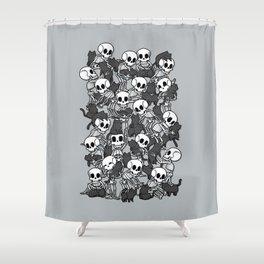 Cat Skull Party Shower Curtain
