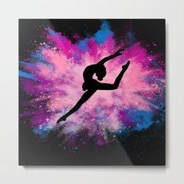 gymnast dancer colour splash Metal Print