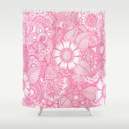 Henna Design - Pink Shower Curtain