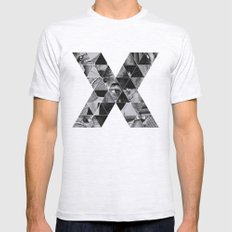 Malcolm x Mens Fitted Tee LARGE Ash Grey