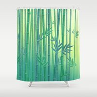serenity Shower Curtains featuring Serenity by Natalia Linn
