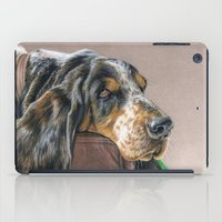 the hound iPad Cases featuring Hound Dog by Sarahphim Art