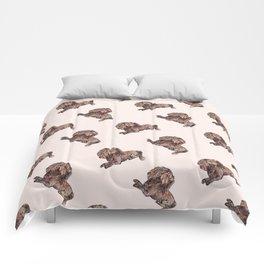 Dog Pattern 2 on Girly Pink Comforters