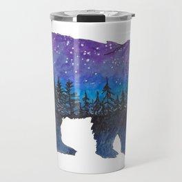 Galaxy Bear Travel Mug