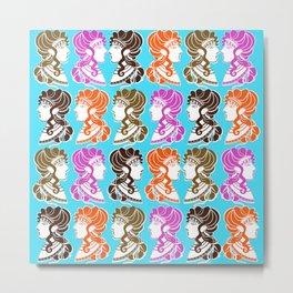 Minoan Ladies II Metal Print