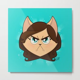 I am NOT cute (Head, without text) Metal Print