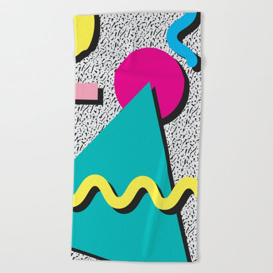 Abstract 1980's Beach Towel