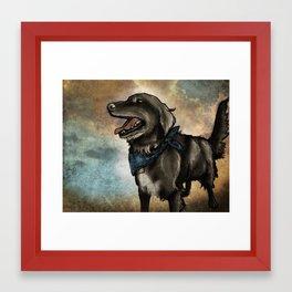 Lucky Pup Framed Art Print