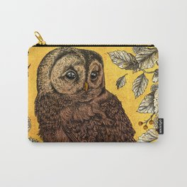 Tawny Owl Yellow Carry-All Pouch