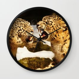 Snow Leopards Wall Clock
