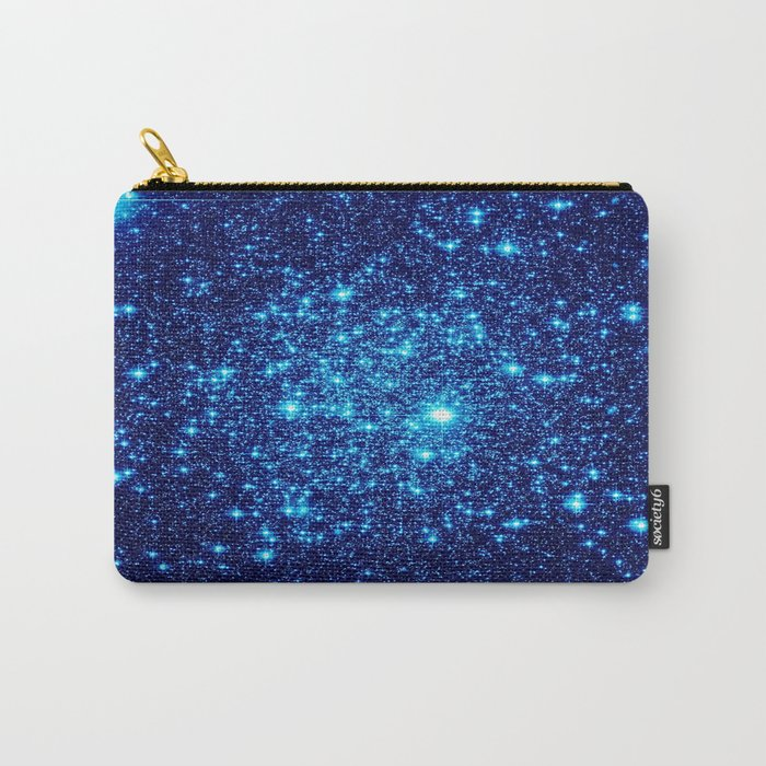 Vivid Blue gALaxY Stars Carry-All Pouch