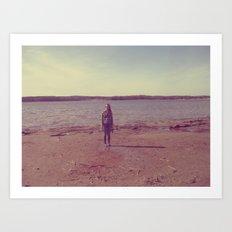A Day at the Lake Art Print
