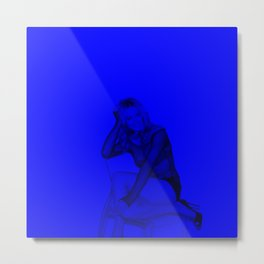 Yvonne Strahovski - Celebrity (Dark Fashion) Metal Print