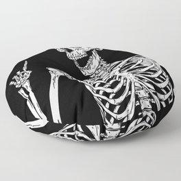 Skeleton got an idea Floor Pillow