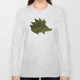 Origami Hedgehog Long Sleeve T-shirt