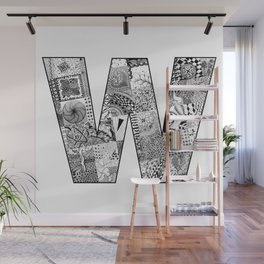 Cutout Letter W Wall Mural