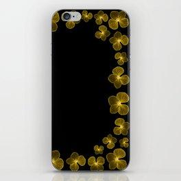 Golden Yellow Flower Border iPhone Skin