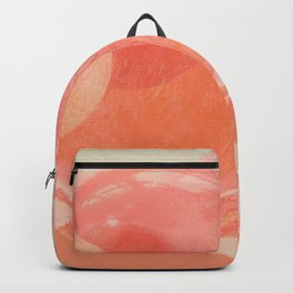 Shapes and Layers no.22 - Pink, coral, peach, orange abstract painting Backpack